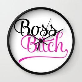 Boss Bitch Wall Clock