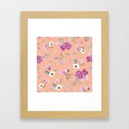 Pink pattern II Framed Art Print