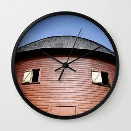 Round Barn Arcadia Oklahoma Wall Clock