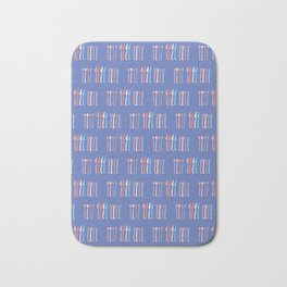 Spoon, Fork, Knife Vector Cutlery Pattern Blue Bath Mat