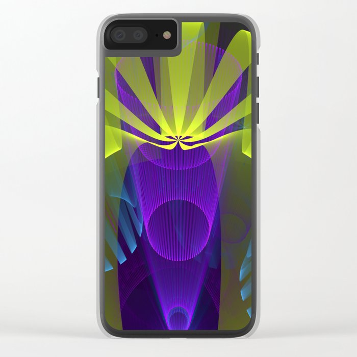 Modern abstract in 3-d Clear iPhone Case