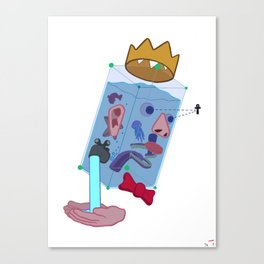Water Man Canvas Print