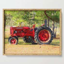 Old Red Farmall Serving Tray