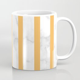 marble vertical stripe pattern yellow Coffee Mug