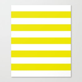 Titanium yellow - solid color - white stripes pattern Canvas Print