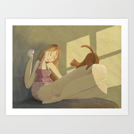 Me & my kitty Art Print
