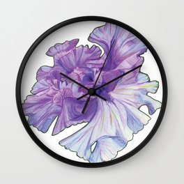 Lace Iris Wall Clock