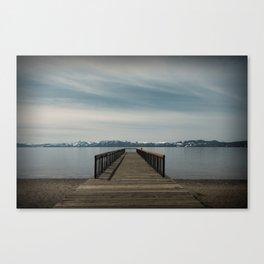 Kings Beach Pier Canvas Print