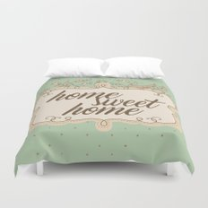 Home sweet home housewarming welcome gift art print Duvet Cover