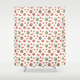 Watermelons Watercolour Painting Shower Curtain