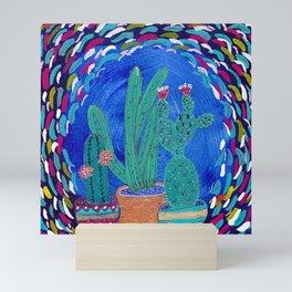 Cactus Odyssey III Mini Art Print