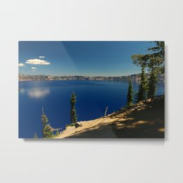 The Deep Blue Of The Crater Lake Metal Print
