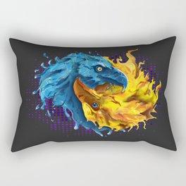Eagles Elemental Yin Yang Rectangular Pillow