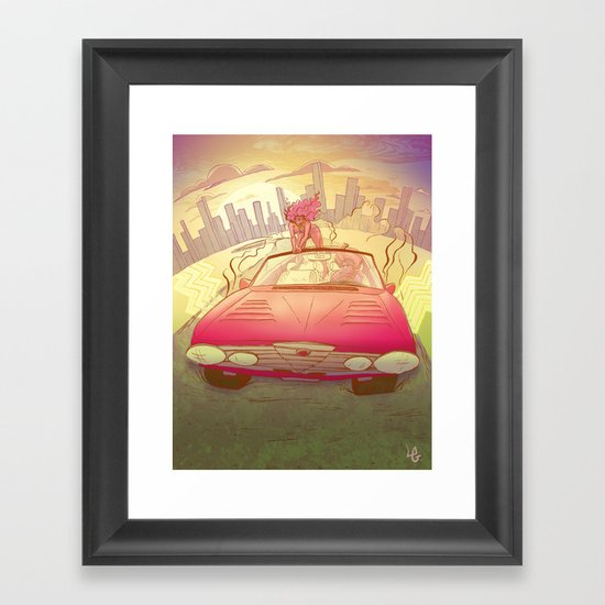 It's All Behind Us Framed Art Print
