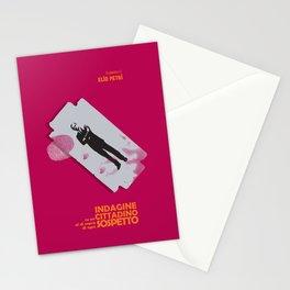 Indagine su un cittadino al di sopra di ogni sospetto, movie poster, Elio Petri, italian cinema Stationery Cards