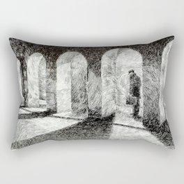 Fingerprint - Arcades Rectangular Pillow