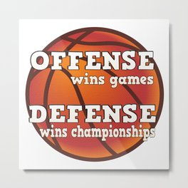 Winning philosophy for team sports (no background) Metal Print
