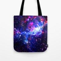 galaxy Tote Bags featuring Galaxy by Matt Borchert