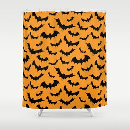 Halloween Bats Pattern Shower Curtain
