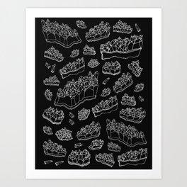 Black Amethyst Art Print