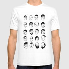 Faces Mens Fitted Tee MEDIUM White