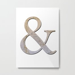 French Ampersand Metal Print