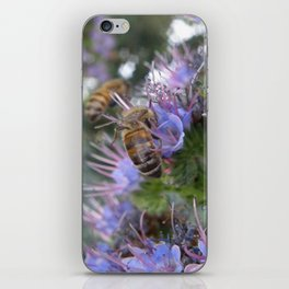 Bees on Buddleia iPhone Skin