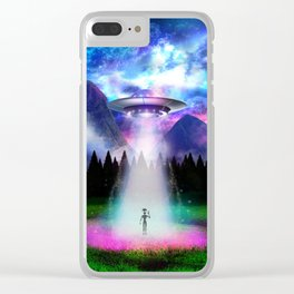 Alien Insight - Hello Alien Clear iPhone Case