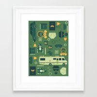 breaking bad Framed Art Prints featuring Breaking Bad by Tracie Andrews