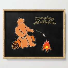 Camping With Bigfoot Serving Tray