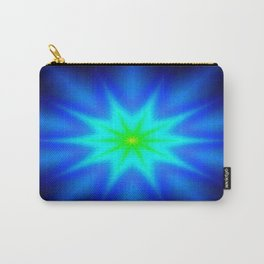Star Bright Blue & green Carry-All Pouch
