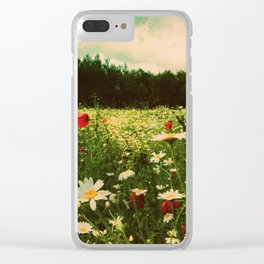 Poppies in Pilling Clear iPhone Case