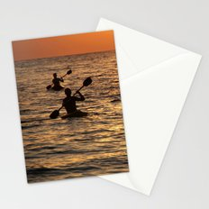 Kayaking at Sunset Palolem Stationery Cards