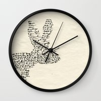 hare Wall Clocks featuring Hare by Amy Veried