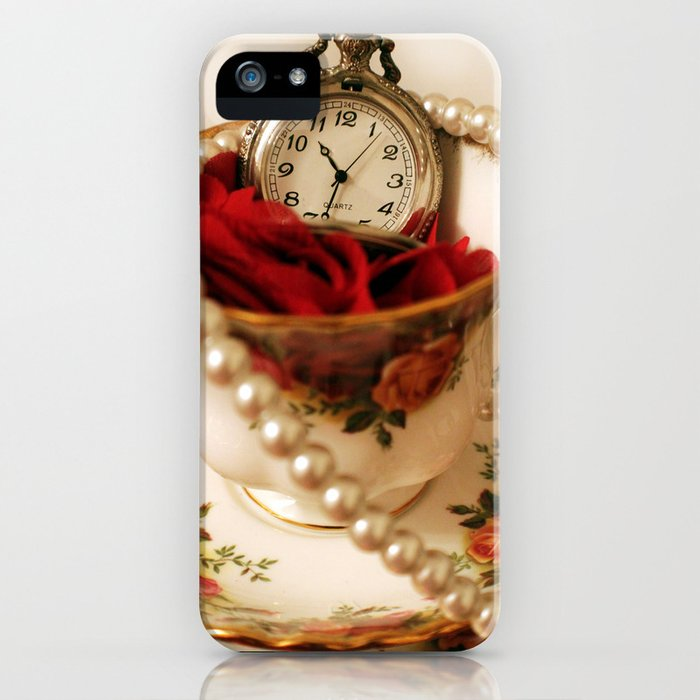 Time For Tea & Pearls!  iPhone Case