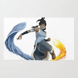 legend of korra of fire and water Rug