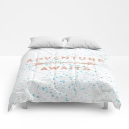 Adventure Awaits Rose Gold Comforters