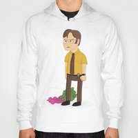 dwight schrute Hoodies featuring Majestic Schrute Farms by gregmsna