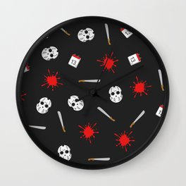 Friday the 13th pattern Wall Clock