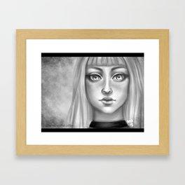B&W Girl Framed Art Print