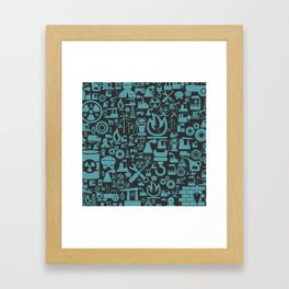 Background the industry2 Framed Art Print