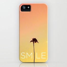 Palm Tree Smile new Hue iPhone Case