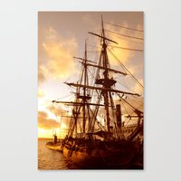 pirate ship Canvas Prints featuring PIRATE SHIP :) by Teresa Chipperfield Studios
