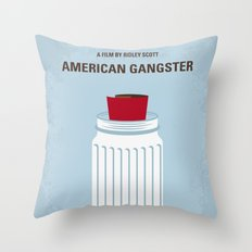 No748 My American Gangster minimal movie poster Throw Pillow