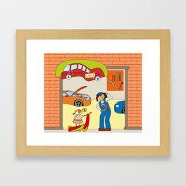 Can you help me? Framed Art Print
