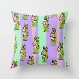 TEDDY BEAR DADDY TEDDY BEAR BABY PATTERN Throw Pillow