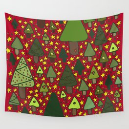 Small Trees Wall Tapestry