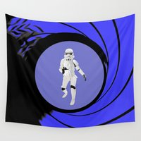 storm trooper Wall Tapestries featuring The name is Trooper, Storm Trooper by DigitalAndPhoto