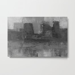 Paint Texture (Black and White) Metal Print
