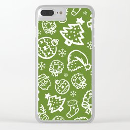 XMAS Green Pattern / Part One Clear iPhone Case